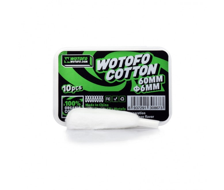 WOTOFO PROFILE RDA 6MM AGLETED COTTON (PACK OF 10)