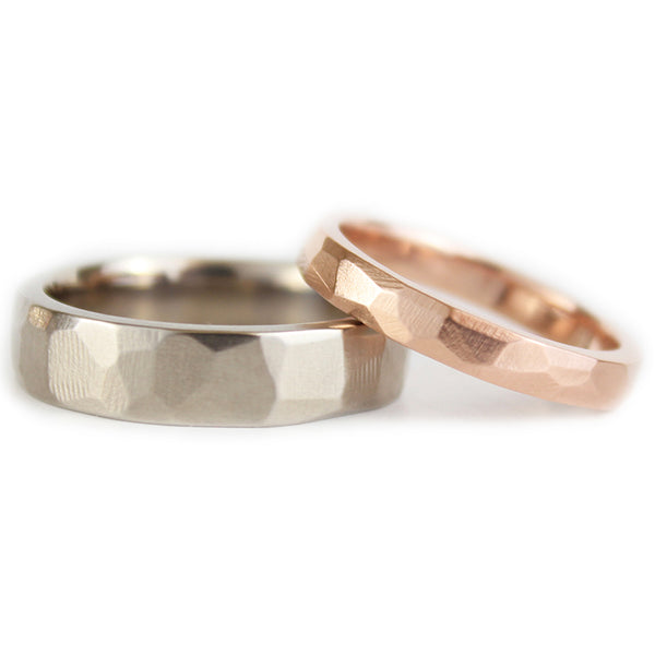 His and Hers Wedding Band Set, Gold Wedding Ring set, Wedding Engagement Rings
