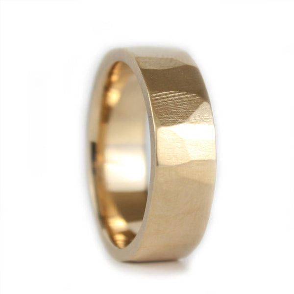 Mens Wedding Band, Unisex Wedding Ring, Gold Wedding Band