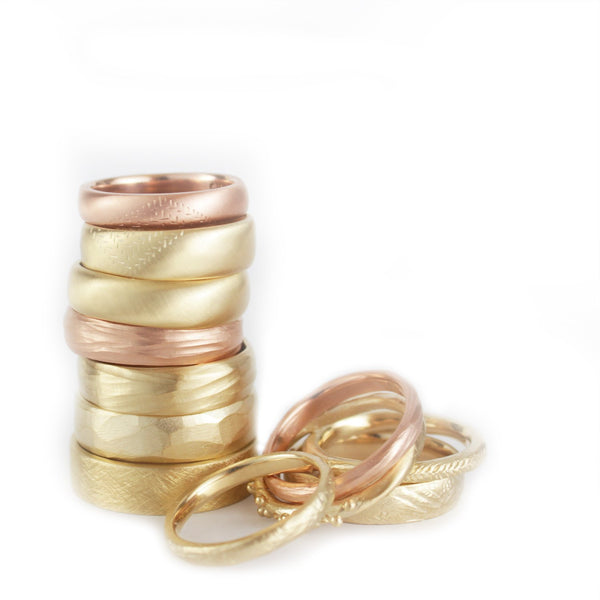 Wedding Ring Gold Wave Ring
