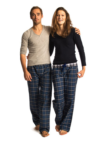 Woodford Navy blue/white check lounge pants - Women's