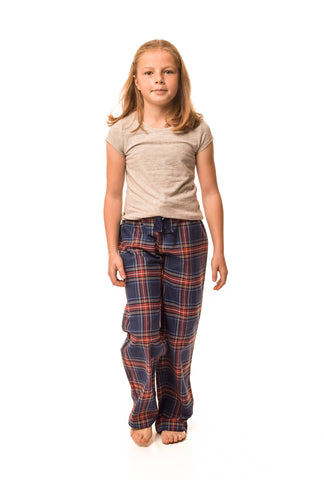 Frensham Blue/red check lounge pants - Girls'