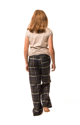 Tillingbourne bottle green/navy blue check lounge pants - Girls'