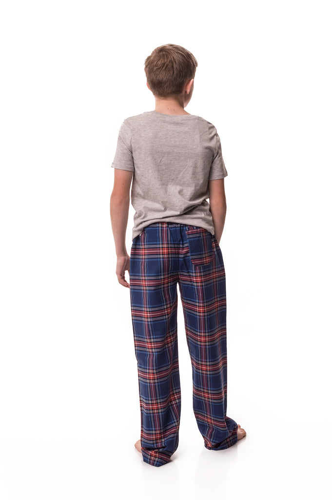 Frensham Blue/red check lounge pants - Boys'
