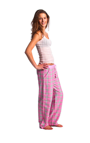 Wallop pink check lounge pants - Women's
