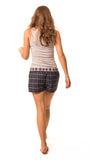 Woodford Navy blue check shorts - Women's