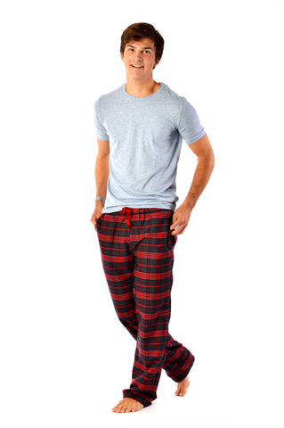 Leckford red/grey check Men's
