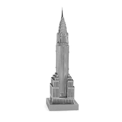 You can see through the windows of the miniature Chrysler building