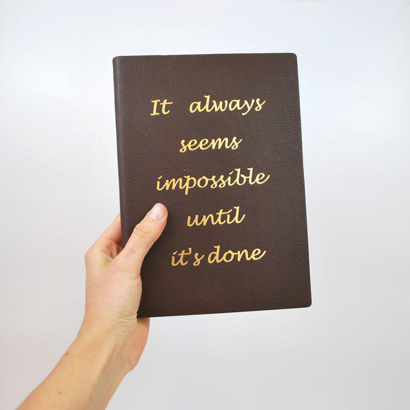 Seems Impossible Leather Journal - The New York Public Library Shop