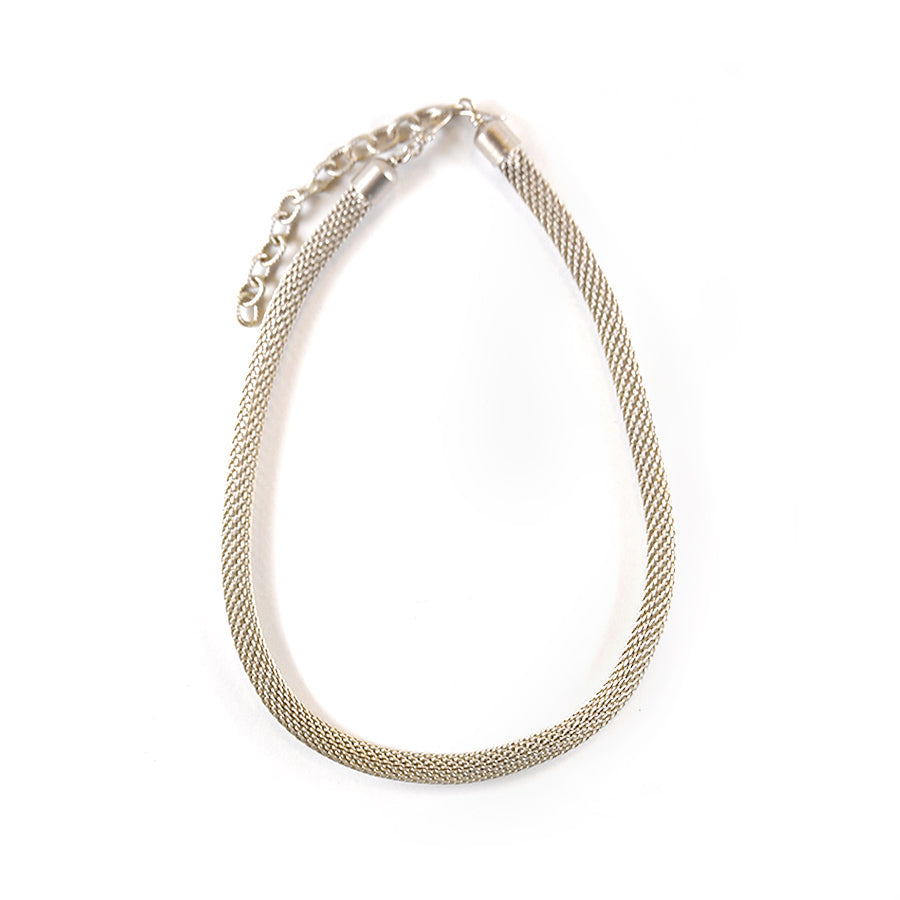 Silver Wire Knit Necklace