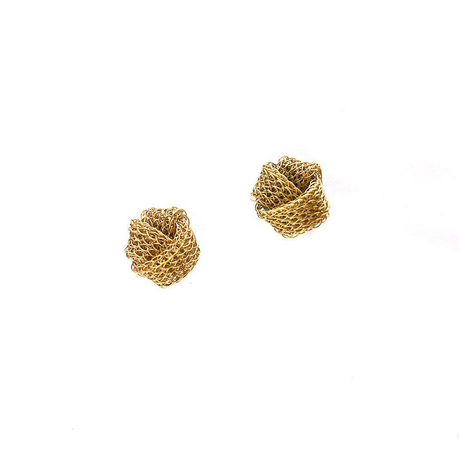 Brass Knot Earrings
