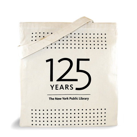 NYPL 125th Anniversary Button Tote Bag - The New York Public Library Shop