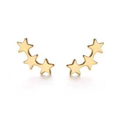 Gold Star Cluster Earrings