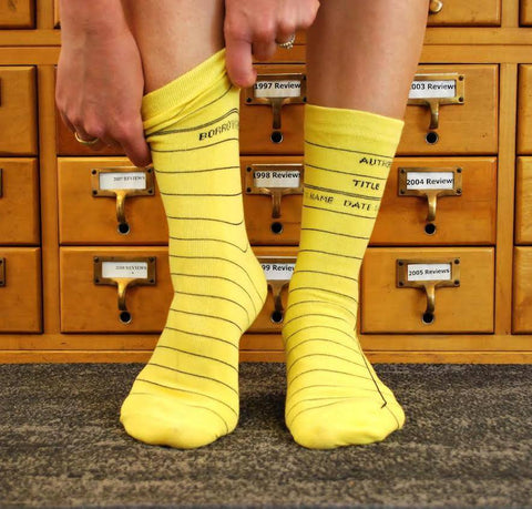 Library Card Socks