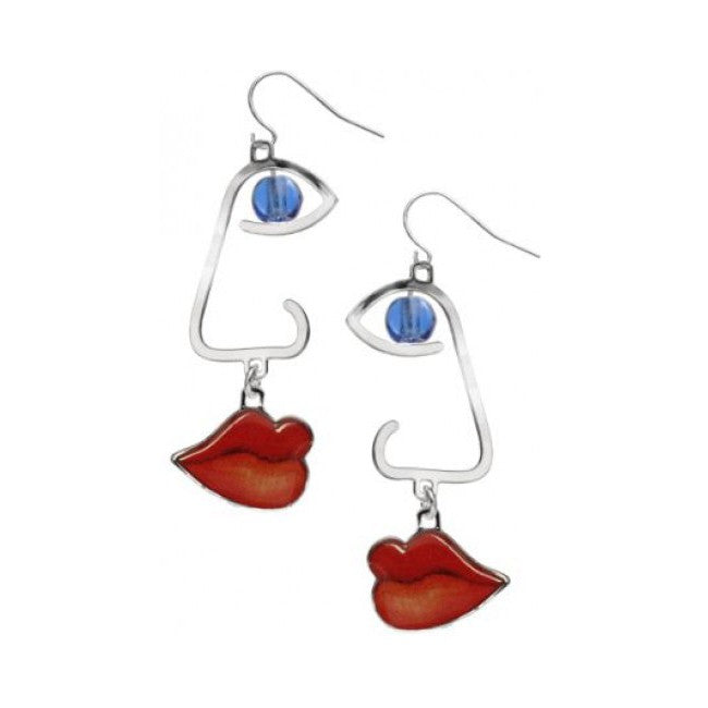 Cubist  Faces Earrings - The New York Public Library Shop
