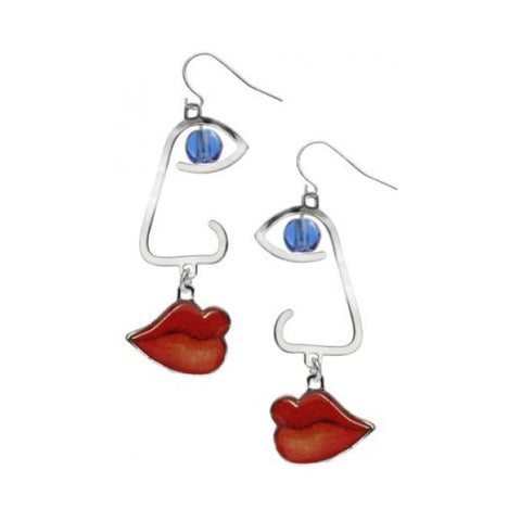 Cubist  Faces Earrings