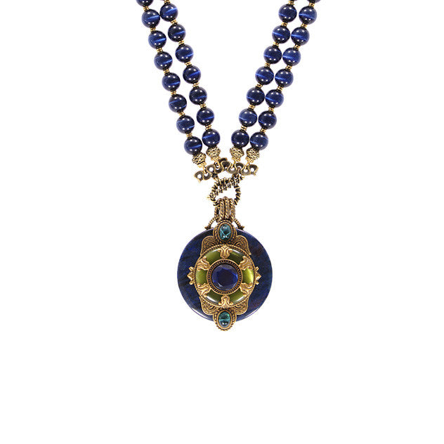 Decorative Blue Necklace - The New York Public Library Shop