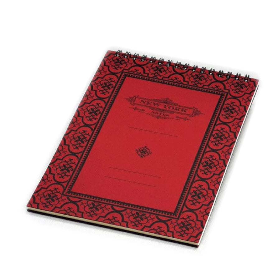 Top Spiral Bound New York Notepad: Red - The New York Public Library Shop