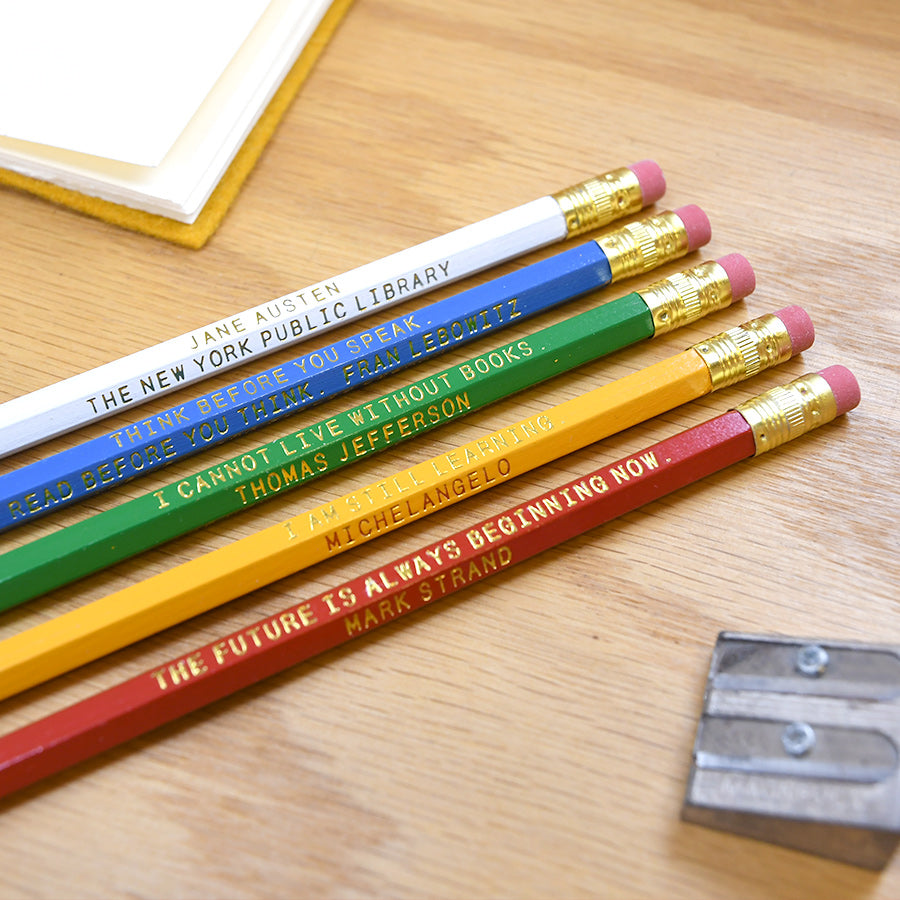 NYPL Quote Pencil Set - The New York Public Library Shop