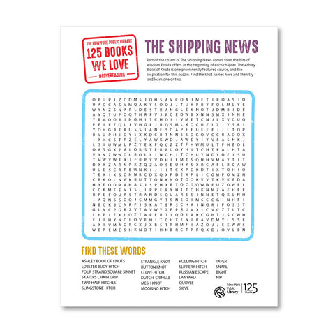 Printable Word Search: The Shipping News