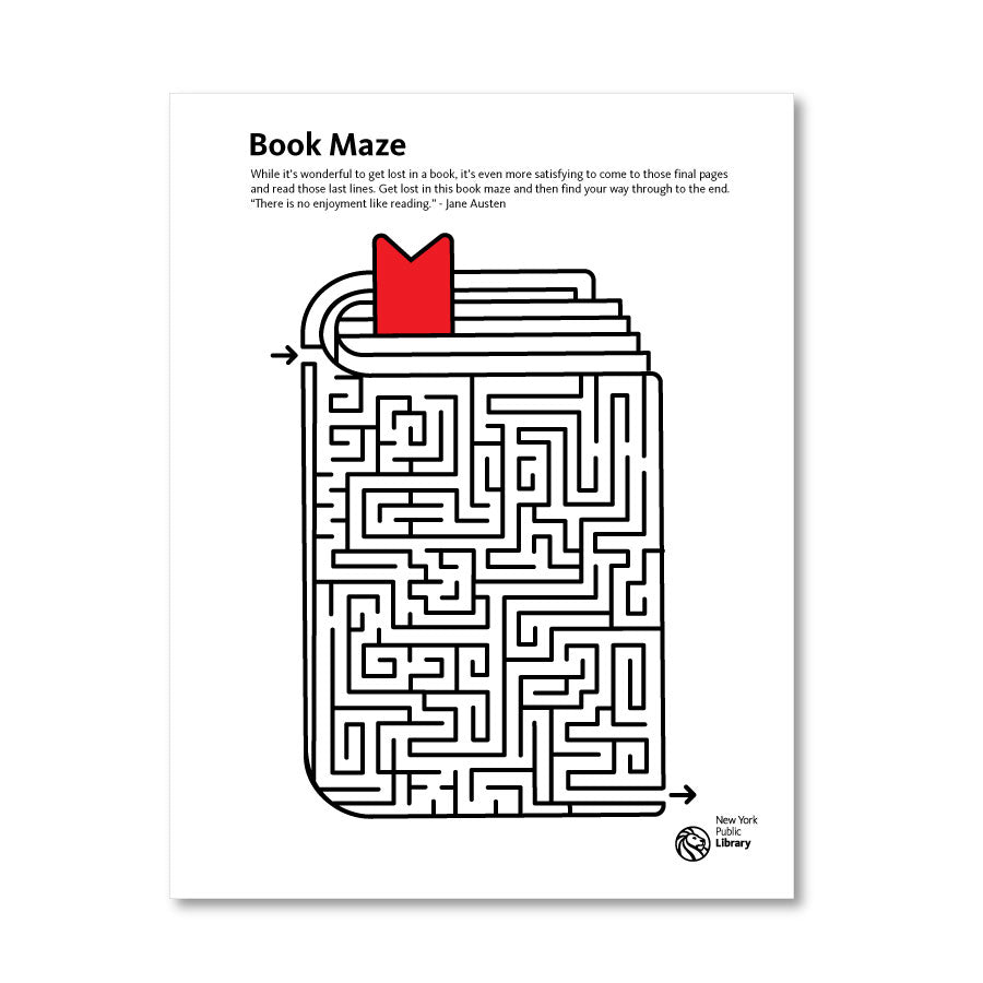 Printable Maze: Book - The New York Public Library Shop