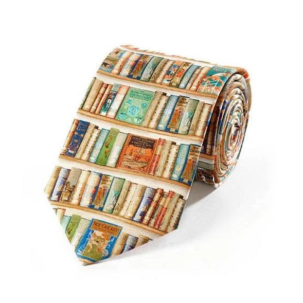 Bookshelf Tie - The New York Public Library Shop