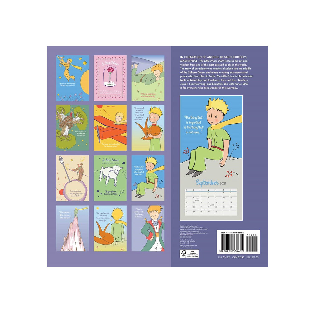 The Little Prince 2021 Calendar