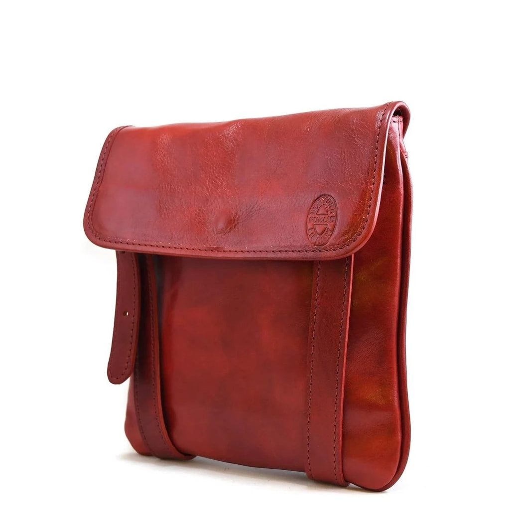 Leather NYPL Bookbinding Stamp Cross-Body Bag - The New York Public Library Shop