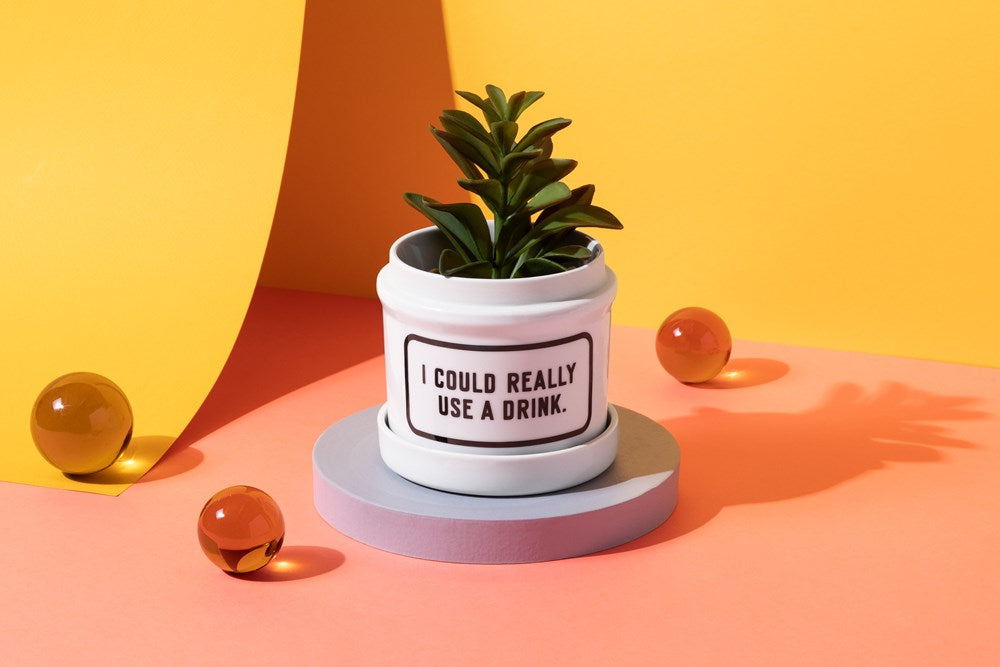 I Could Really Use A Drink Planter