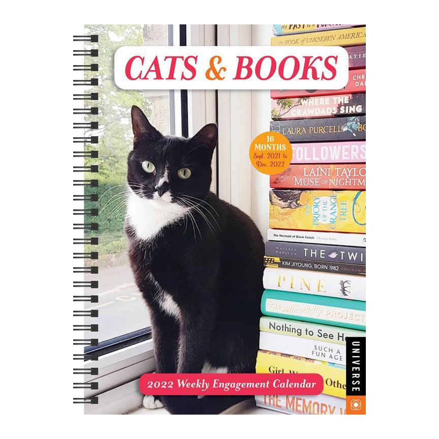 Cats & Books 16-Month 2021/2022 Weekly Planner