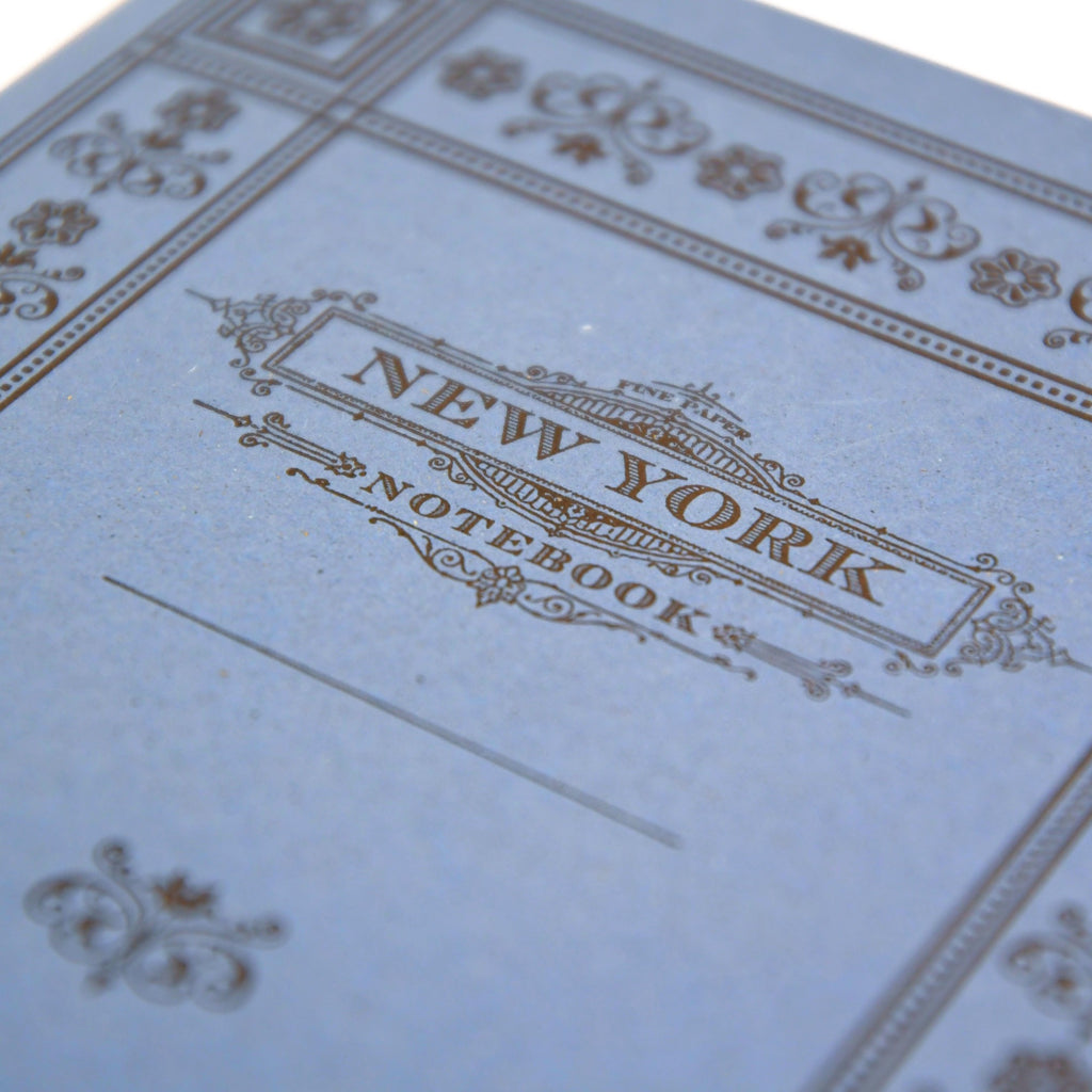Stitched New York Notebook: Lavender
