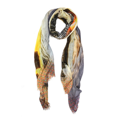 Art Deco NYC Sunset Scarf - The New York Public Library Shop