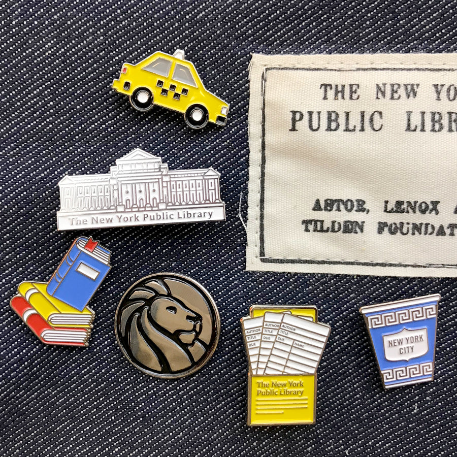 NYPL Taxi Enamel Pin - The New York Public Library Shop