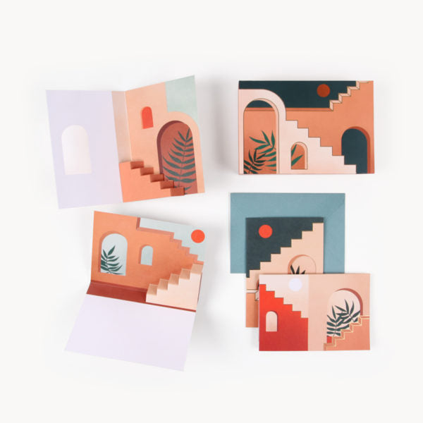 Staircases & Archways Pop-Up Notecard Set