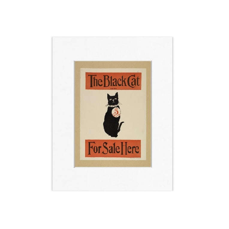 The Black Cat Matted Print - The New York Public Library Shop