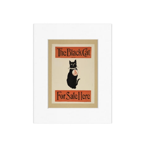 The Black Cat Matted Print