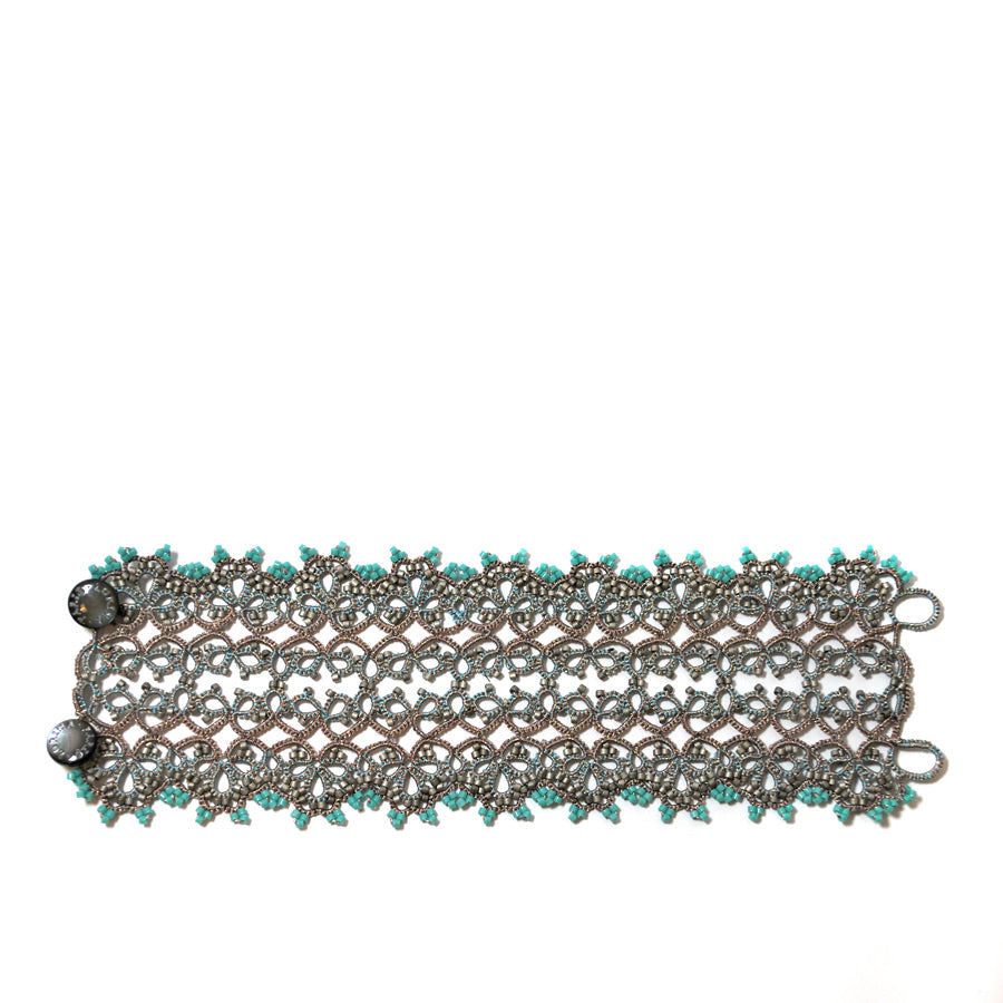 Lace Bracelet: Turquoise Brigitte - The New York Public Library Shop