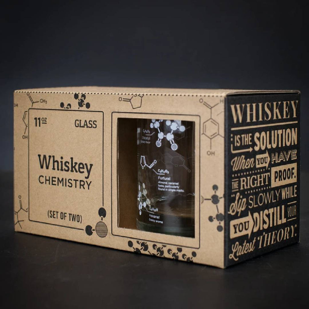 Whisky Chemistry Rocks Glass Set