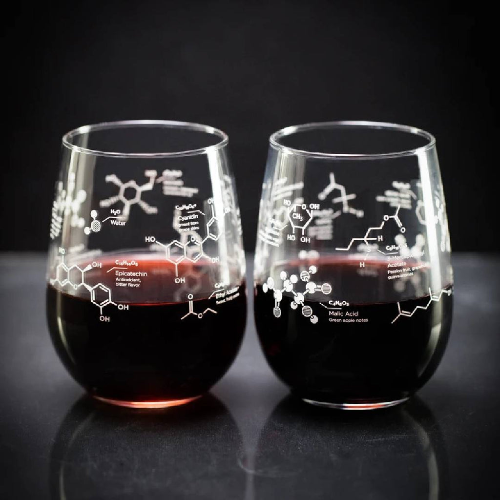 Wine Chemistry Stemless Glass Set