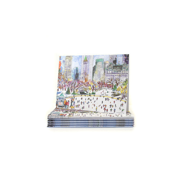 Central Park Skating Embellished Card Set - The New York Public Library Shop