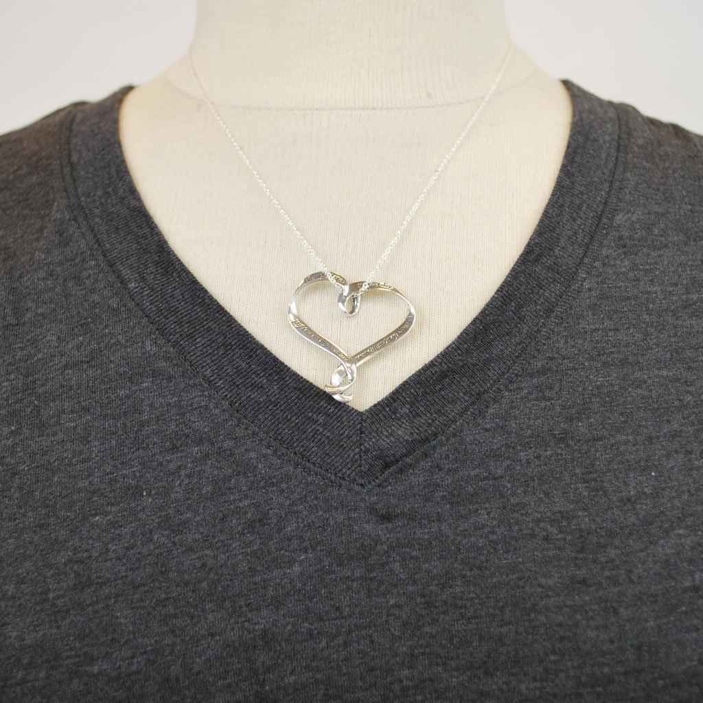 Jane Austen Heart Necklace - The New York Public Library Shop