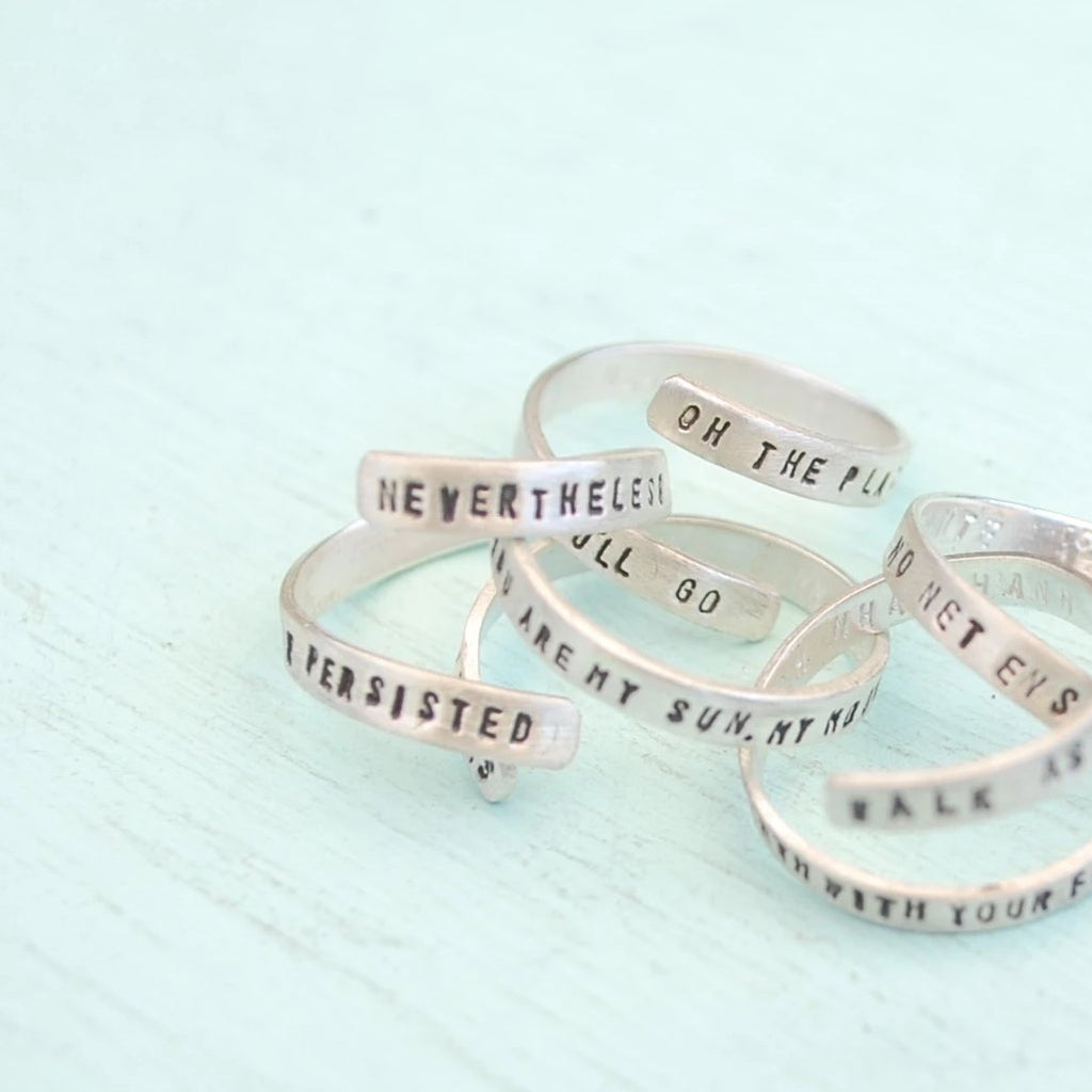 Nevertheless She Persisted Ring - The New York Public Library Shop