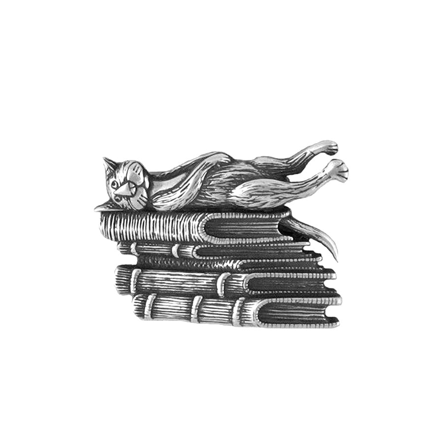 Edward Gorey's Book Cat Brooch