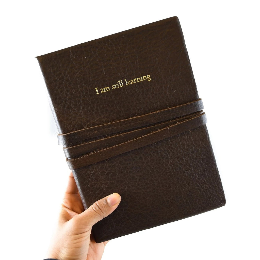 I Am Still Learning Leather Journal - The New York Public Library Shop