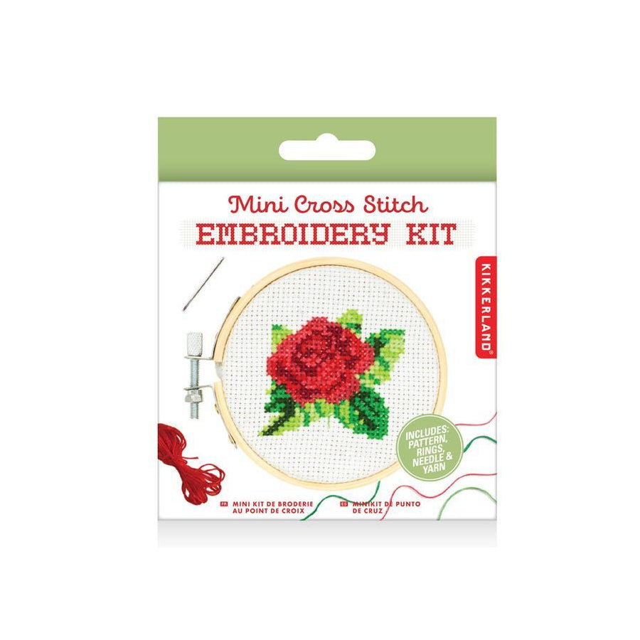 Rose Mini Cross Stitch Embroidery Kit