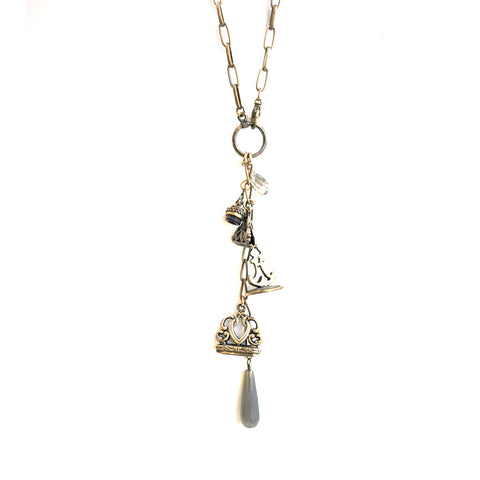Bronze Watch Fob Necklace