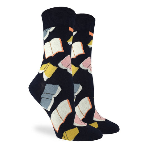Flying Books Women Socks