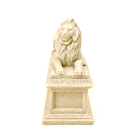 Library Lion Fortitude Sculpture