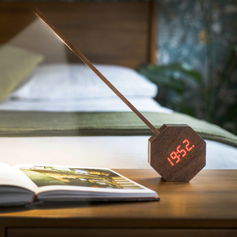 Octagon Reading Lamp with Alarm