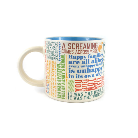 Marvelous First Lines Of Literature Mug